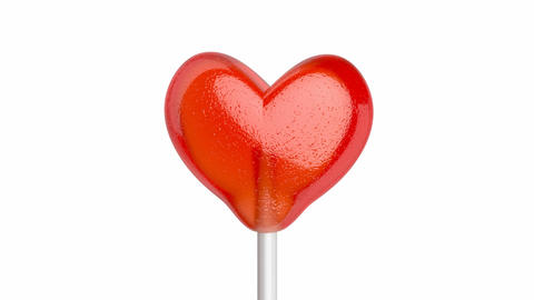 Lollipop in shape of heart Animation