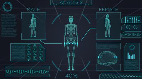 Futuristic medical screen scan Footage