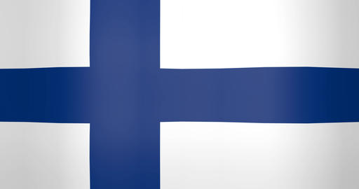 Waving Flag of Finland Looping Background Live Action
