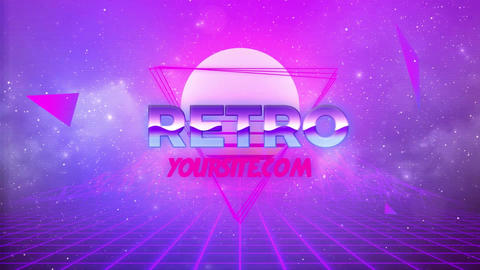 80s Retro Logo After Effects Template