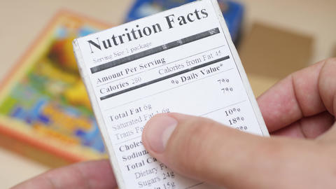 Nutrition Facts Label on Food Box Live Action