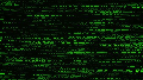Flowing Matrix Digital Green Dots Loop Motion Background Animation