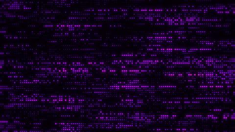 Flowing Matrix Digital Purple Dots Loop Motion Background Animation