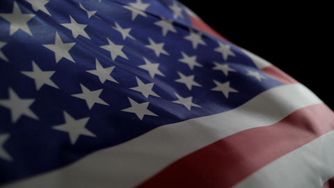 USA flag in slow motion Footage