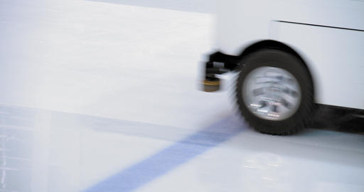 Machine for making filling ice on skating ring Footage