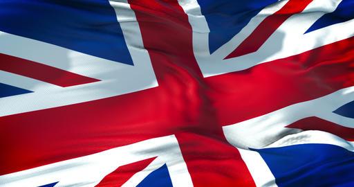 closeup of flag of Union Jack, uk england, united kingdom Live Action