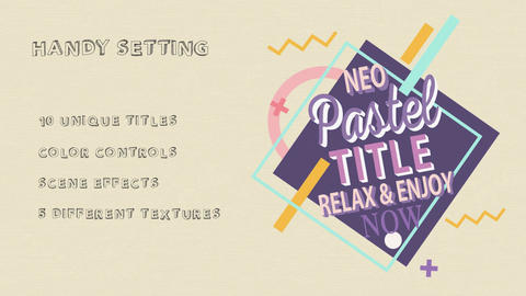 Neo Pastel Titles After Effects Template