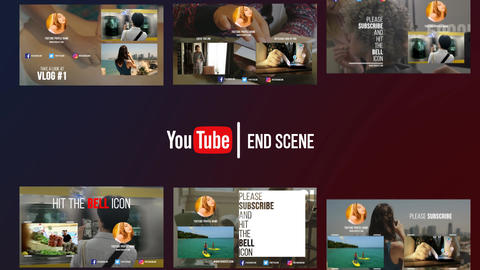 YoutubeEndScreen Premiere Pro Template