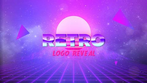 80s retro logo Premiere Pro Template