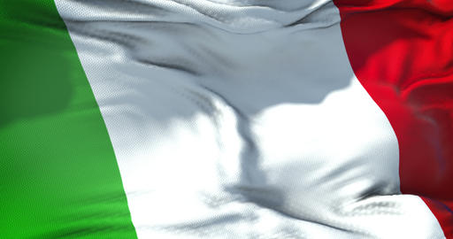 waving fabric texture of the flag of italy, italian national patriotic flag concept democratic Live Action