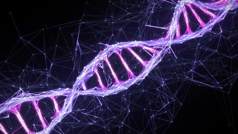 Motion Background Digital Plexus DNA molecule strand 4k... Stock Video Footage