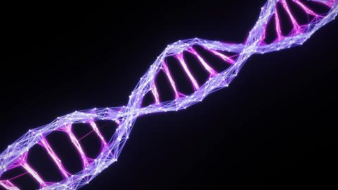Isolated Digital Plexus DNA molecule strand Loop pink purple violet alpha matte Animation