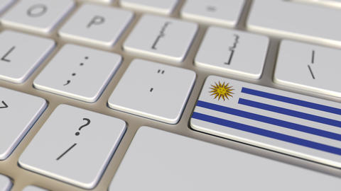 Key with flag of Uruguay on the computer keyboard switches to key with flag of Live Action