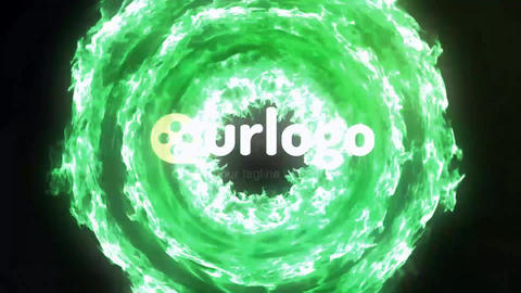 Energy Particles Logo Reveal After Effects Template