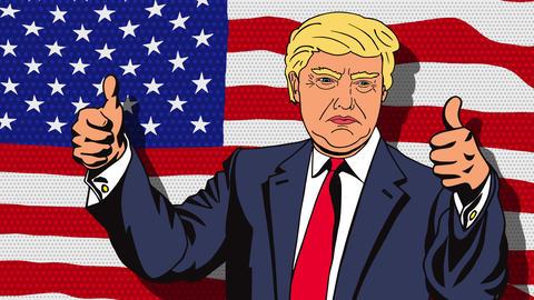 January 18, 2016: Character animation Portrait Donald Trump Animation