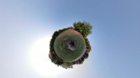 Little Planet View of Carbon-neutral forest in Ansan Hwarang Recreation Area 01 Live Action
