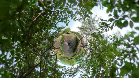 Little Planet View of Carbon-neutral forest in Ansan Hwarang Recreation Area 05 Live Action