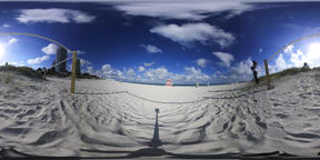 360 vr video of World famous South Beach. Miami Beach, USA VR 360° Video