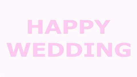 結婚式(結婚式ビデオ)のオープニングHappy Wedding CG動画