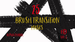 Abstract Paint Brush Stroke Grunge Transition with many strokes Footage