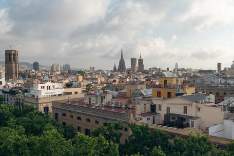 Barcelona skyline, view from the roof Photo