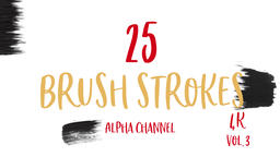 Ink Brush Stroke Set whit Alpha transparency channel Footage
