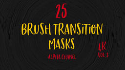 Abstract Paint Brush Transitions Reveal Pack with Alpha…, Live Action