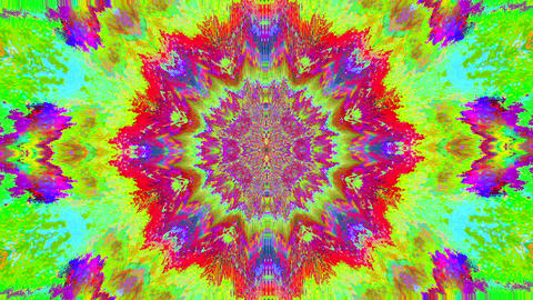 Fractal dynamic magical trendy shimmering background. Acid palette Footage