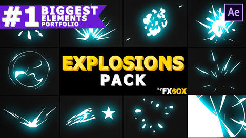 Cartoon Explosion Elements After Effects Template