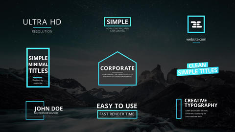 Clean Simple Titles After Effects Template