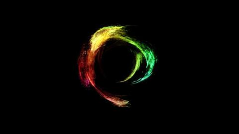 Fire circle tunnel animation rainbow Videos animados