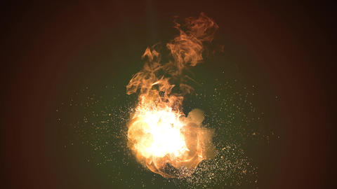 Fire explosion sparks Animation