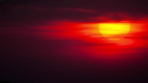 Sunset landscape over city skyline Live Action