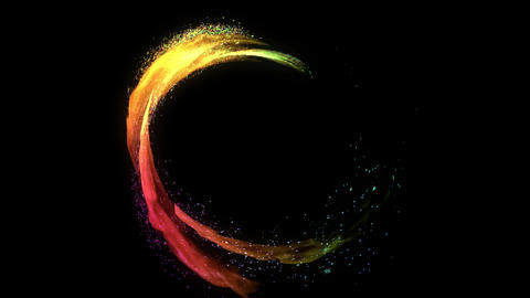 Fire circle rainbow animation Animation