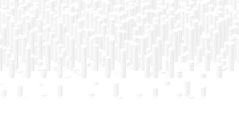 Cylinder bar 3D virtual isometric shuffle wave pattern, Blockchain technology concept design Animation