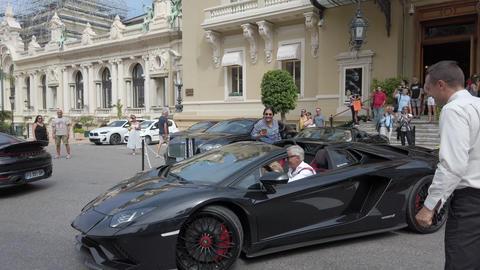 Black Lamborghini Aventador S Roadster In Monaco Footage
