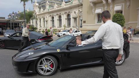 Black Ferrari F430 Spider Footage