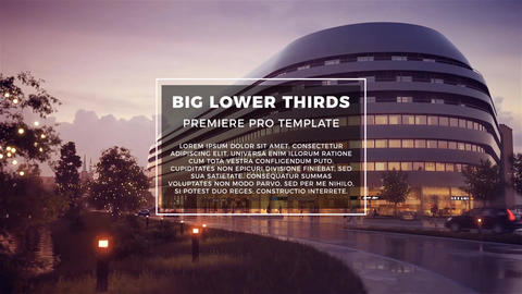 Big Lower Thirds Premiere Pro Template