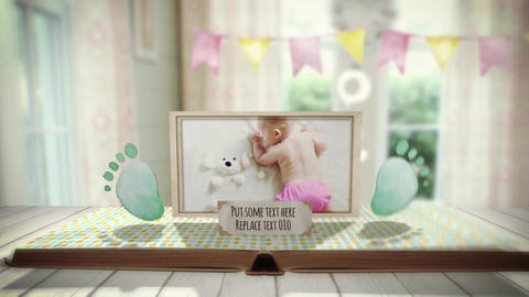 Baby PopUp Album After Effects Template