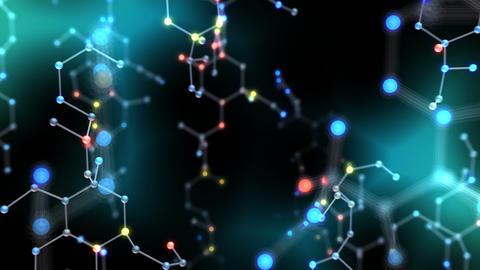 Chemical molecule Bv LED neon dark 4k Animation
