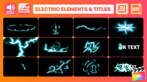 Flash FX Electric Elements And Titles Apple Motion Template