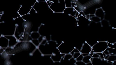 Chemical molecule Bh black 4k Animation