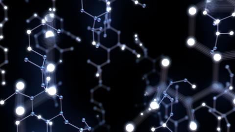 Chemical molecule Bv neon black 4k Animation