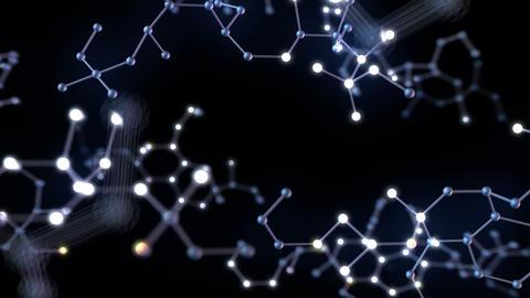Chemical molecule Bh neon black 4k Animation