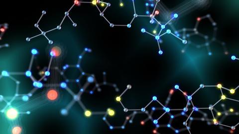 Chemical molecule Bh LED neon dark 4k Animation