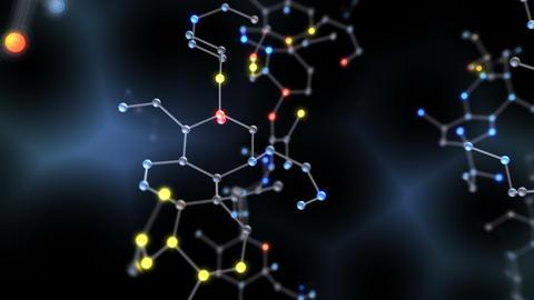 Chemical molecule Dv LED neon dark 4k Animation