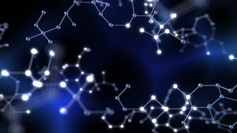 Chemical molecule Bh neon dark 4k Animation