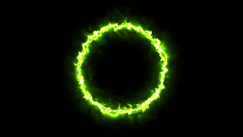 The ring of fire monster green Animation