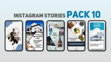 Instagram Stories Pack 10 After Effects Template