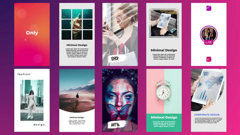 Instagram Stories Pack V7 After Effects Template